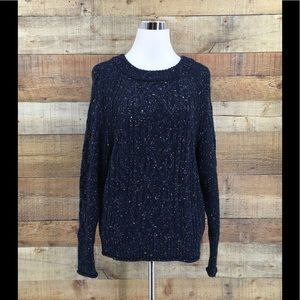 NWT J.Crew Dongal Cable Knit Crewneck Sweater XS